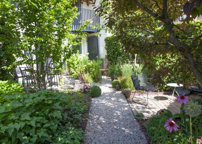 Bel appartement de 4.5 pièces en triplex, avec jardin